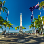 CAIRNS, AUS - JUN 22 2014: Cairns Cenotaph and Memorial site